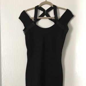BCBG bandage mini black dress